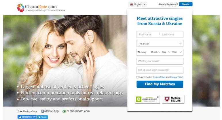 Charm Date registration